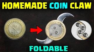 Homemade folding Coin Knife| zombie apocalypse | Double Decker