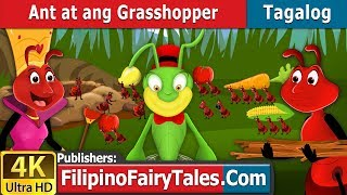 Ant at ang Grasshopper - Kwentong Pambata - Pambatang Kwento - 4K UHD - Filipino Fairy Tales