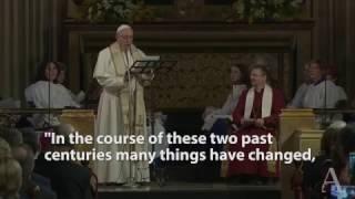 Pope Francis makes history: visits Anglican church