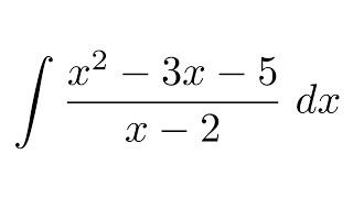 Integral of (x^2-3x-5)/(x-2)