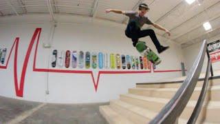 Nollie Heelflip Late Flip DOWN STAIRS?! - Cody Whitt