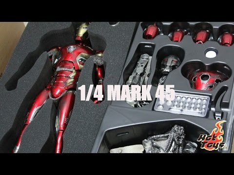 UNBOXING Avengers AOU 1 4th scale Mark XLV Collectible Figure By Hot Toys