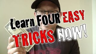 4 Simple Tricks!! Magic YOU CAN DO NOW! (REVEALED / EXPLAINED)