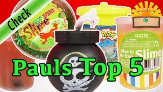 PAUL´S TOP 5 LIEBLINGS SCHLEIM - Slime Glibber Favoriten KINDER EXPERIMENT