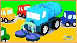 Cartoon Cars - STICKY JELLY SWEEPING TRUCK! Construction Cartoons for Children - Kids Cars Cartoons