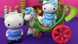 Hello Kitty Unicorn and Cart Playset - Hello Kitty Toys by DisneyToysReview