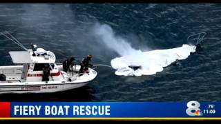 Good Samaritans rescue mother and daughter trapped in burning sailboat