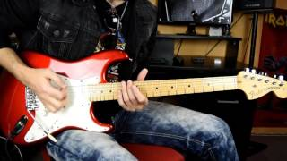 Heavy blues guitar solo