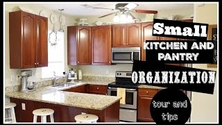 SMALL KITCHEN AND PANTRY ORGANIZATION   Tour and Tips
