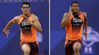 Marcus Mariota vs. Jameis Winston 40-yard dash simulcam