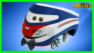 TRAINS Cartoon / New Episode / A brave act / Trains Cartoon Collection for Children