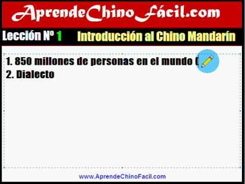 1. Aprende chino fácil. Introducción al chino mandarín.