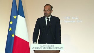 French PM Edouard Philippe sets our pension reform plan