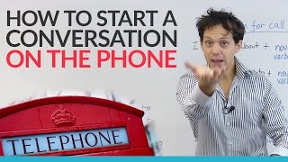 How to start a phone conversation in English