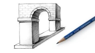 How to Draw the Arch Optical Illusion