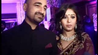 Sunidhi Chauhan and Hitesh Sonik's marriage party.