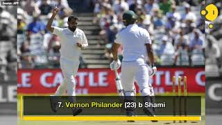 South Africa stumbled in 1st innings of the first Test match
