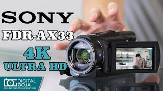 Sony FDR-AX33 4K Ultra HD Video Handycam Camcorder | Unboxing & Overview