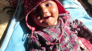 Baby video: Five-month-old baby makes funny sounds