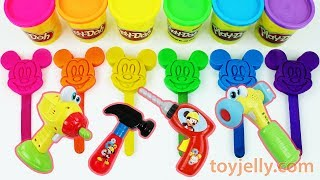 Play Doh Mickey Mouse Popsicle Ice Cream Learn Colors Repair Tool Toys Baby Finger Song Kids Rhymes