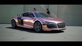 TANNER BRAUNGARDT'S  AUDI R8 Reveal!!! ROSE GOLD CHROME SD WRAP