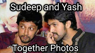 Kichcha Sudeep and Yash together photos collection
