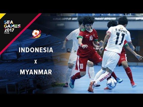 INDONESIA (3) Vs (1) MYANMAR - FUTSAL PUTRI SEA GAMES 2017