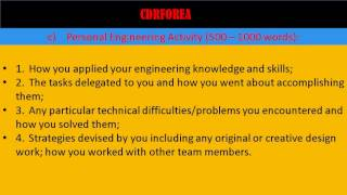 How to write a Career Episode/ Competency Demonstration Report (CDR) for Engineer Australia