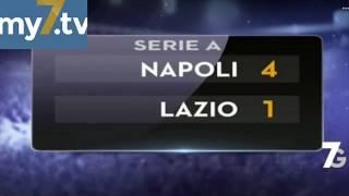 DirettaStadio 7Gold Napoli Lazio 4-1 Marika Fruscio, la tifosa sexy del Napoli, entusiasta!