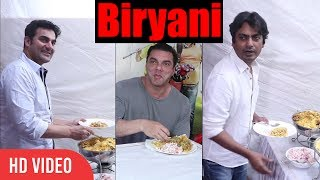 Nawazuddin, Sohail And Arbaaz Khan Eating Biryani And Sheer khurma | EID Biryani