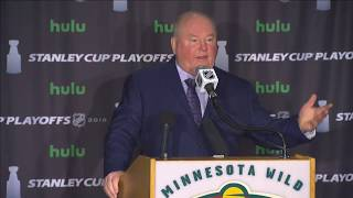 Boudreau responds to Morrissey's cross-check on Staal