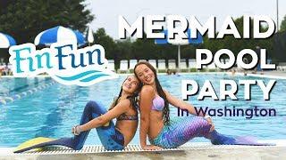 Mermaids Make Waves in Washington!   Mermaid Mania 2018   Fin Fun Mermaid Tails