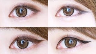 Korean trendy eyeliner styles♥四款必學韓系女神眼線