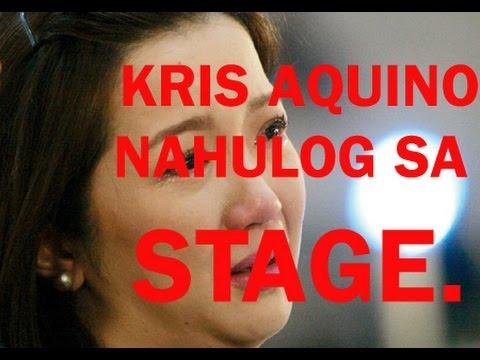 Kris Aquino Nahulog sa Stage