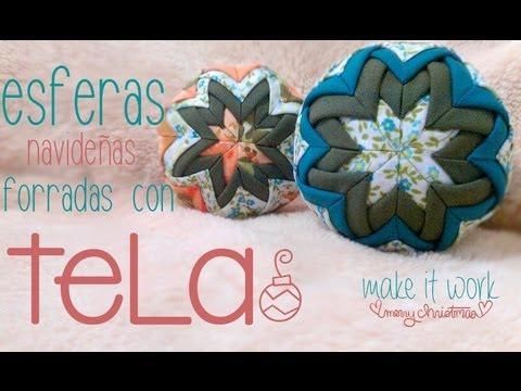 esferas navideñas forradas con tela ♥ spheres 3