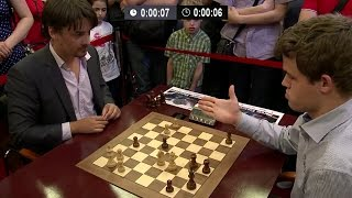 Alexander Morozevich Checkmates Magnus Carlsen By One Magical Knight | Blitz Chess Tal Memorial 2013