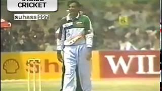 (Full match) Rajesh Chouhan Six wins the match - India vs Pakistan 1997 2nd ODI Karachi
