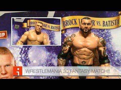 Xxx Mp4 WWE ACTION INSIDER Batista Vs Brock Lesnar WM30 Fantasy Matchup Figure Battle Pack Mattel Figures 3gp Sex