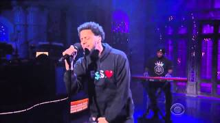 J. Cole Performs 'Be Free' Live on The Late Show with David Letterman