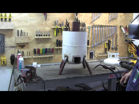 How to build a propane tank rocket stove 2 3