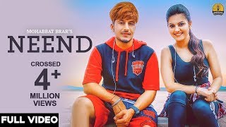 Neend (Full Video) - Mohabbat Brar - New Punjabi Song 2018 - Latest Punjabi Songs 2018