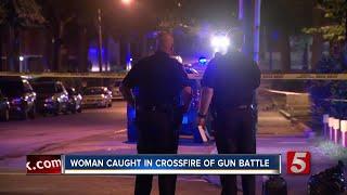 Woman Caught In Crossfire Of Gun Battle
