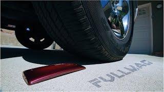 LG G Flex 2 vs Truck Tire