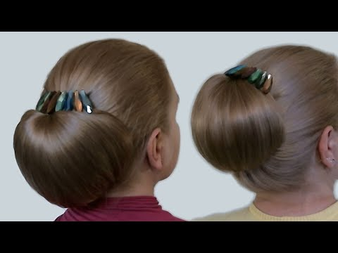 Xxx Mp4 Updo Hairstyles Bun With Hair Bow For Long Hair Hairstyle Babette Tutorial 3gp Sex