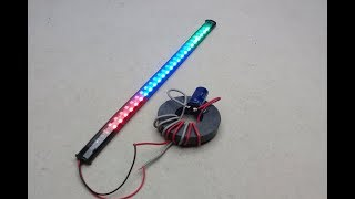 Free energy generator using magnets with  light bulbs mini - Simple diy at home