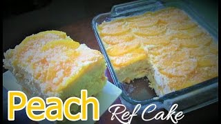 No Bake Peach Ref Cake Recipe | Ice Box Cake | Broas