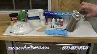 Making Polyester Resin Pen Blanks