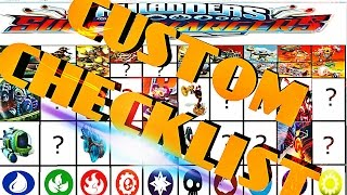 SKYLANDERS SUPERCHARGERS CHARACTER and VEHICLE POSTER CUSTOM CHECKLIST