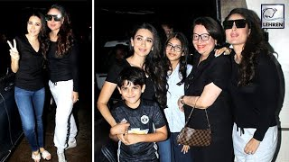 Kareena & Karishma Kapoor Look Stunning In Their Black Avatar   LehrenTV