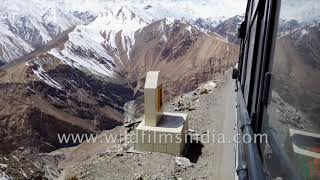 Hairy bus ride into the Himalaya: gyro stabilized ride with cheery mountain labourers!